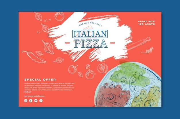 Conceito de banner de comida italiana