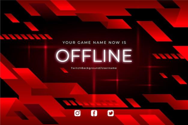 Conceito de banner de contração offline