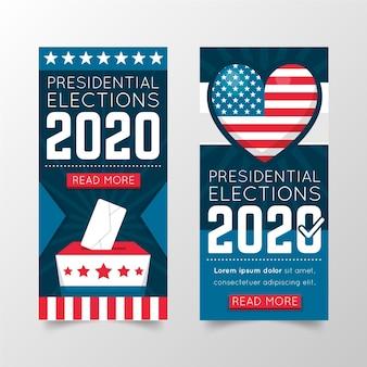 Conceito de banner de eleição presidencial dos eua em 2020
