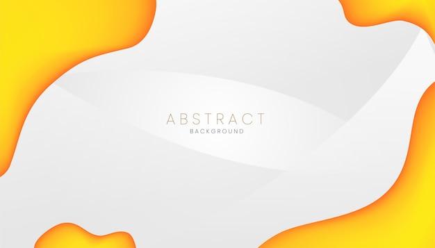 Conceito de banner de fundo abstrato líquido laranja
