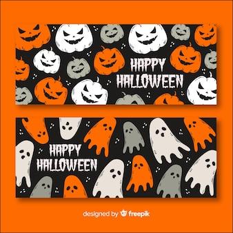Conceito de banner de halloween