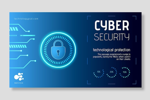 Conceito de banner de segurança cibernética