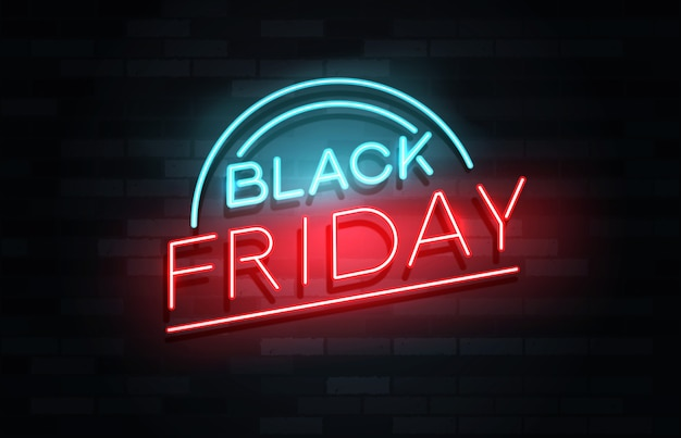 Conceito de banner de venda da black friday