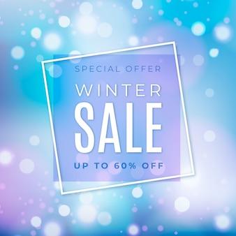 Conceito de banner de venda no inverno turva
