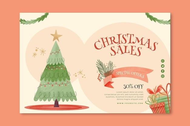 Conceito de banner de vendas de natal
