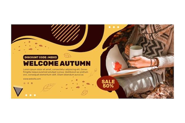 Conceito de banner do meio do outono