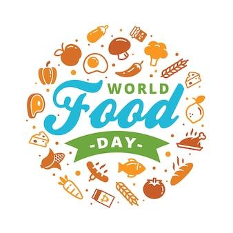 Conceito de banner do mundo comida dia logo