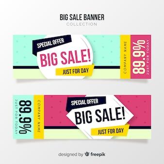 Conceito de banner grande venda criativa