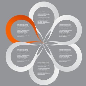 Conceito de banners circulares coloridos em forma de flor para design de negócios diferentes. ilustração vetorial