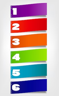 Conceito de banners coloridos para design de negócios diferentes. vec