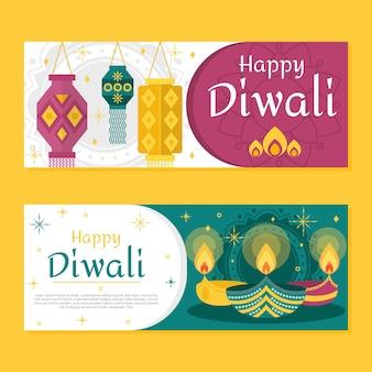 Conceito de banners diwali