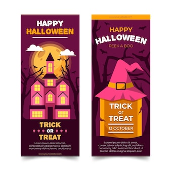 Conceito de banners do festival de halloween