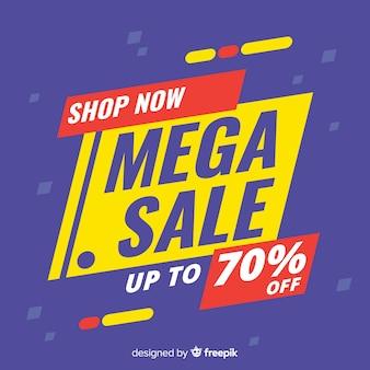 Conceito de banners promocionais venda mega