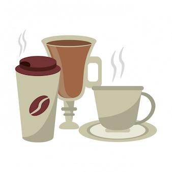 Conceito de bebidas de café