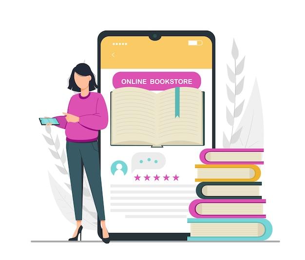 Conceito de biblioteca de leitura para amantes de livros