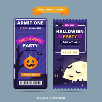 Conceito de bilhetes de halloween