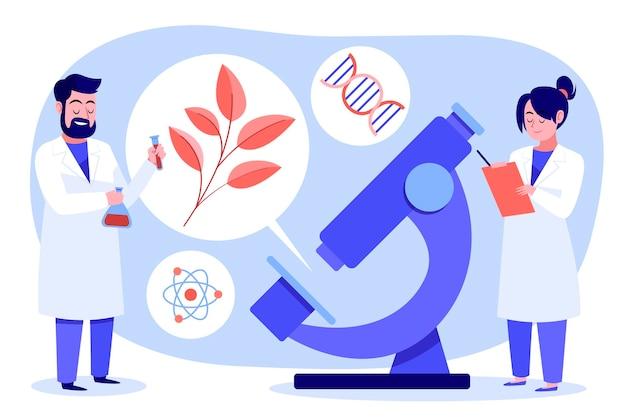 Conceito de biotecnologia de design plano