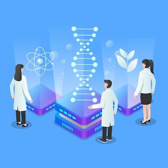 Conceito de biotecnologia de ilustração de gradiente