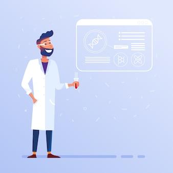 Conceito de biotecnologia e laboratório.