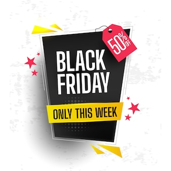 Conceito de black friday com design plano