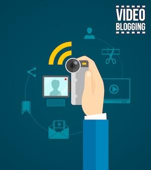Conceito de blog de vídeo