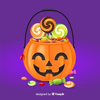 Conceito de bolsa de halloween moderno