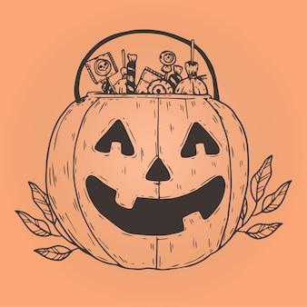 Conceito de bolsa de halloween