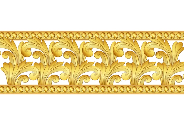Conceito de borda ornamental dourada