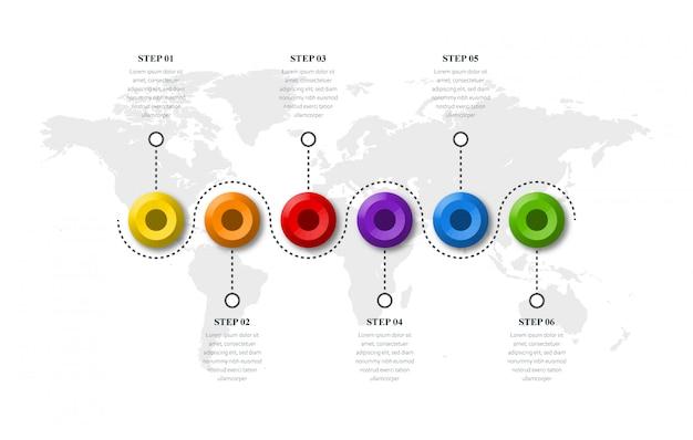 Conceito de botão criativo infográfico design