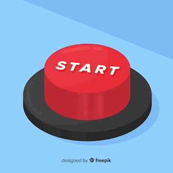 Conceito de botão iniciar vermelho