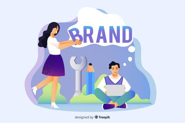 Conceito de branding para a página de destino