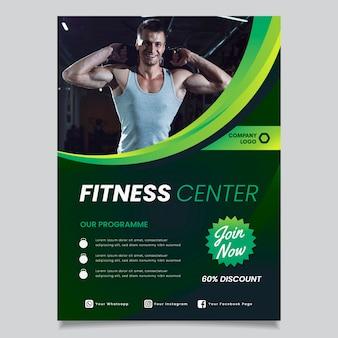 Conceito de brochura de esporte