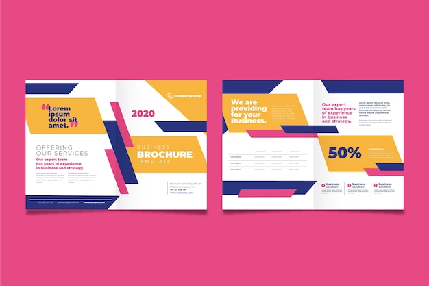 Conceito de brochura de negócios