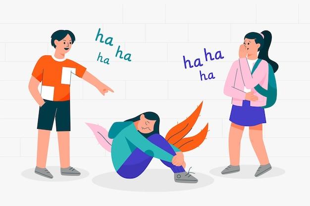 Conceito de bullying ilustrado