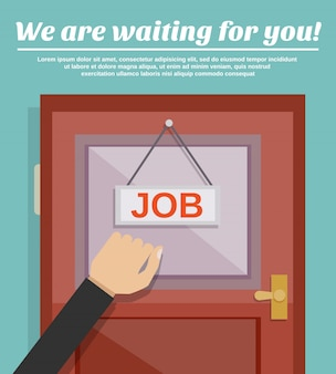 Conceito de busca de emprego
