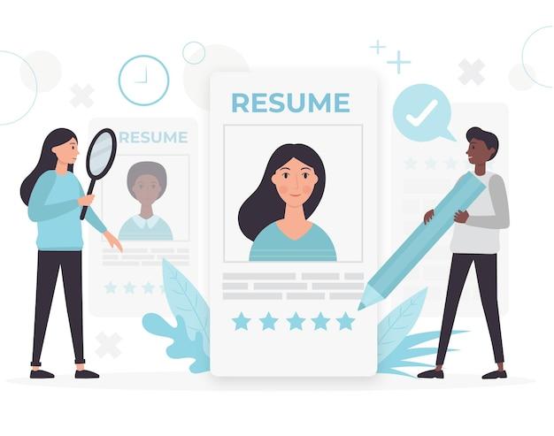 Conceito de busca por trabalhador ilustrado