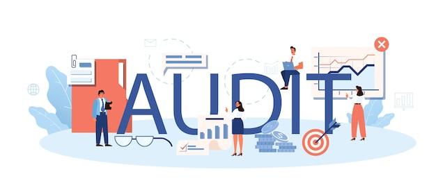 Conceito de cabeçalho tipográfico de auditoria