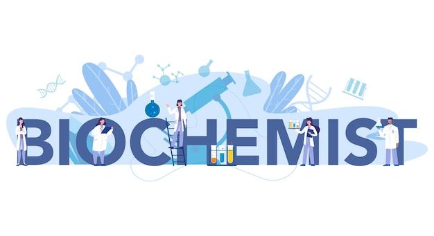 Conceito de cabeçalho tipográfico de ciência química