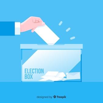 Conceito de caixa de eleição