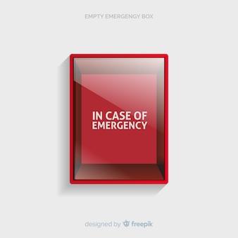 Conceito de caixa de emergência vazia