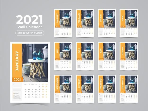 Conceito de calendário de parede anual
