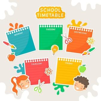Conceito de calendário de volta às aulas