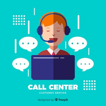 Conceito de call center