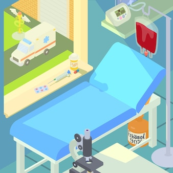 Conceito de câmara médica hospitalar