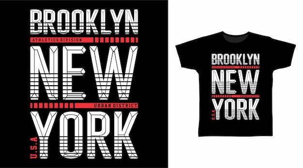 Conceito de camiseta de tipografia brooklyn new york
