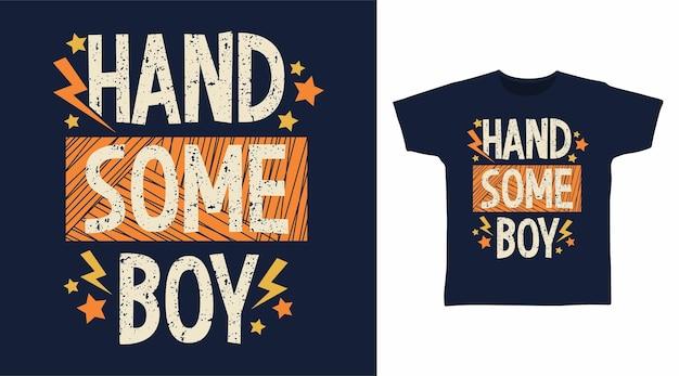 Conceito de camiseta de tipografia de menino bonito