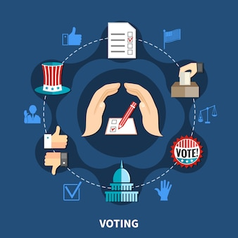 Conceito de campanha de eleições