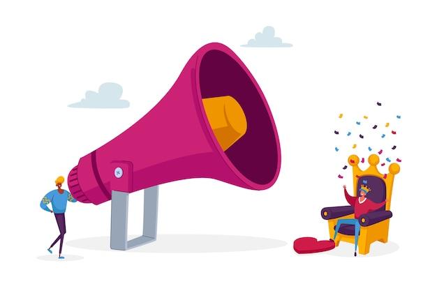 Conceito de campanha publicitária, blog ou rede de mídia social