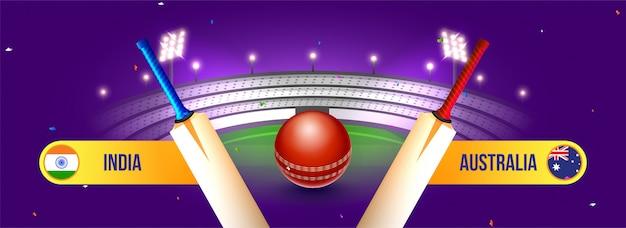 Conceito de campeonato de críquete do mundo.