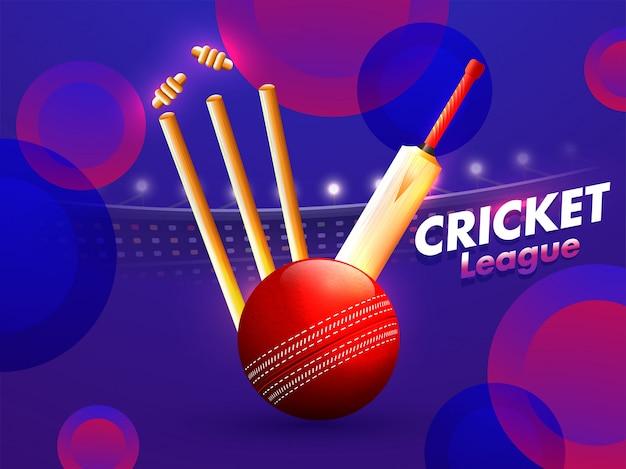 Conceito de campeonato de críquete.